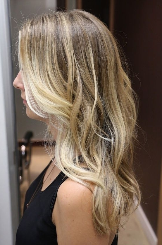 """Subtle Blonde Ombre And Loose Waves 