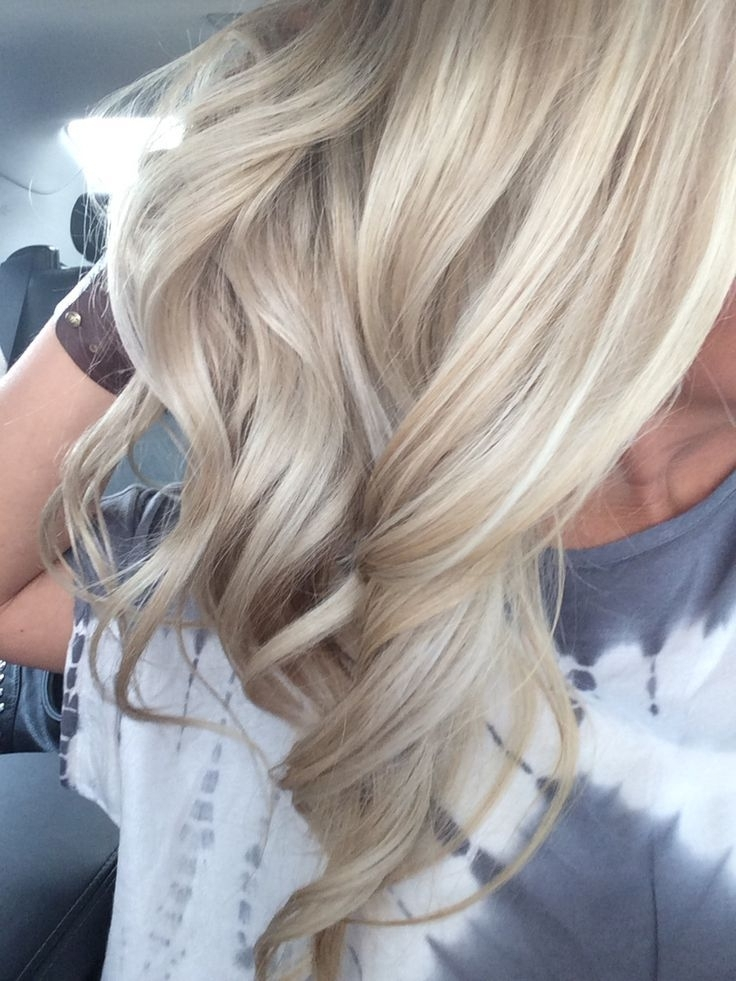 Summer Blonde Dimension Beach Waves Highlights Lowlights | Hair With Beachy Waves Hairstyles With Blonde Highlights (View 7 of 25)
