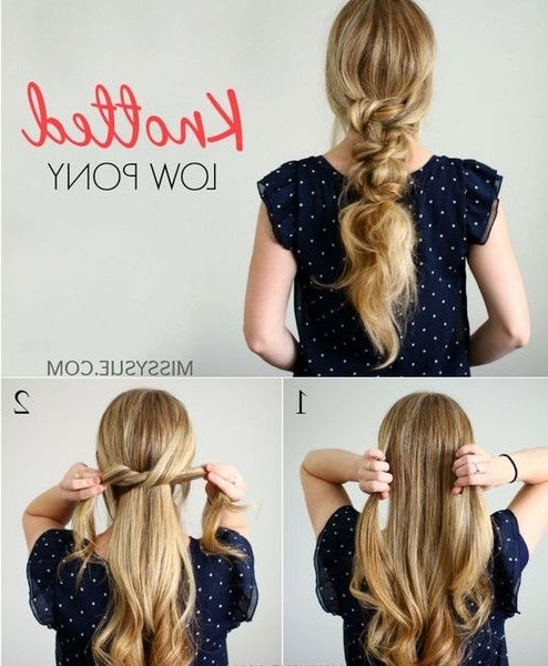 Summer Hairstyles : Knotted Ponytail – Messy Pinterest Braids We Within Braided And Knotted Ponytail Hairstyles (View 15 of 25)