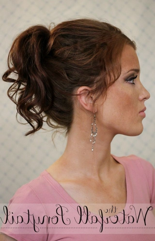 Summers End Hair Week: The Waterfall Ponytail (The Freckled Fox For Cascading Ponytail Hairstyles (View 21 of 25)
