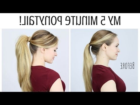 Super Cute Ponytail Hairstyles You Definitely Need To Try Intended For Stylish Low Pony Hairstyles With Bump (View 17 of 25)