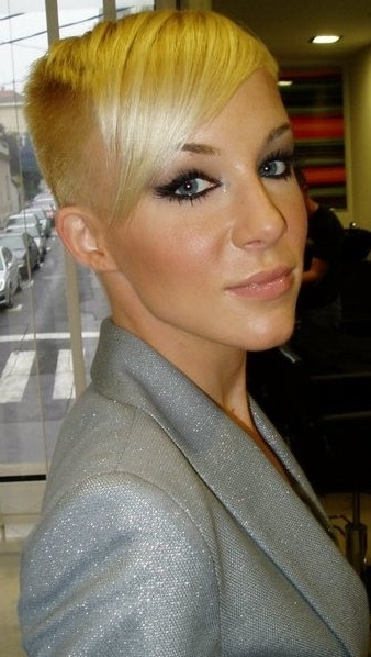 Super Short And High, Pixie Haircut With Long Fringe And Shaved Pertaining To Most Popular Short Choppy Side Parted Pixie Hairstyles (View 19 of 25)