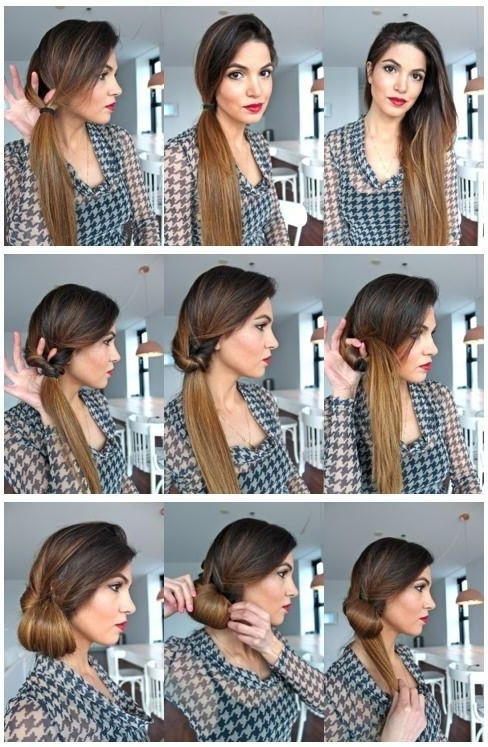 Super Simple Low Hanging Side Bun Tutorial | Hair & Beauty Pertaining To Low Hanging Ponytail Hairstyles (View 20 of 25)