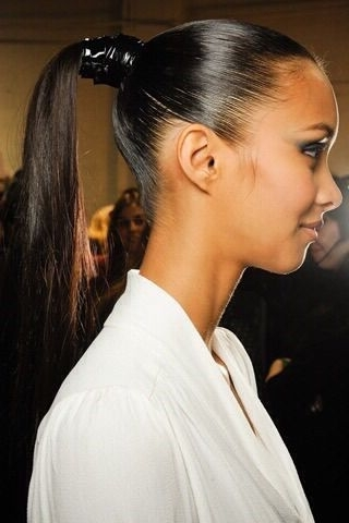 Super Sleek, Smooth And Shiny Ponytail | Hair In 2018 | Pinterest With Regard To Futuristic And Flirty Ponytail Hairstyles (View 23 of 25)