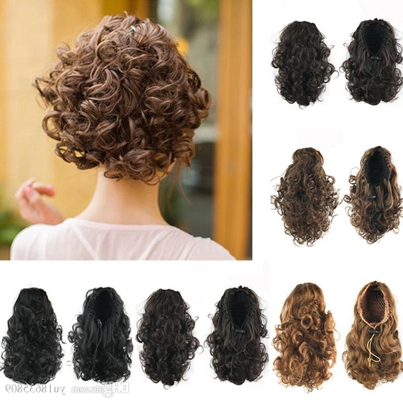 Synthetic Short Fluffy Curly Ponytails Elastic Drawstring Natural Pertaining To Full And Fluffy Blonde Ponytail Hairstyles (View 24 of 25)