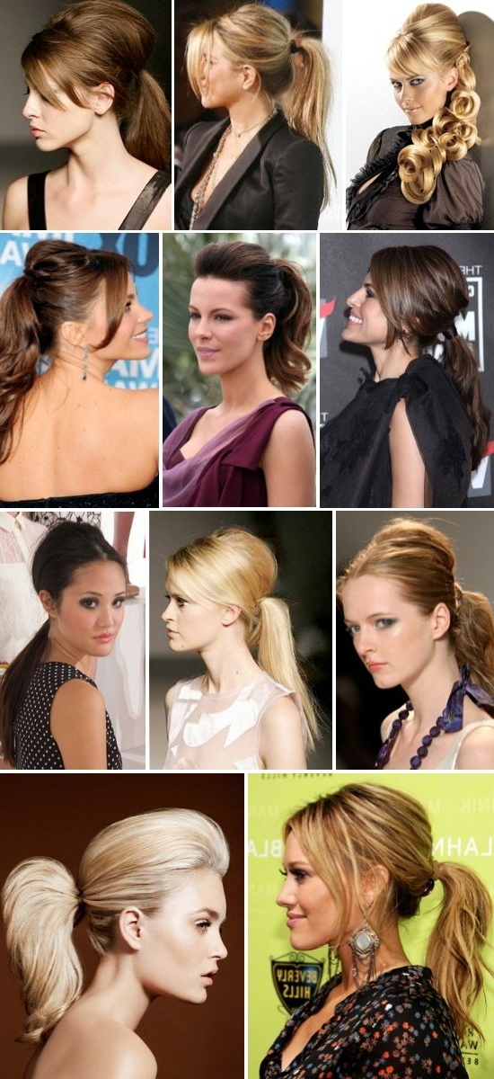 Teased Crown Ponytails After Drying Your Hair, Spray The Roots At Within Blonde Flirty Teased Ponytail Hairstyles (View 13 of 25)