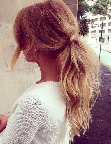Teased Ponytails | Hair + Makeup | Pinterest | Teased Ponytail Intended For Blonde Flirty Teased Ponytail Hairstyles (View 5 of 25)