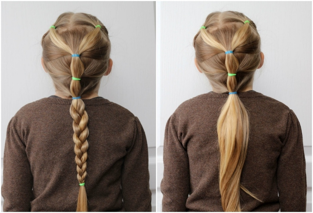 Ten Quick And Easy Hairstyles For Your Daughter Which Even Dad Can Do Inside Princess Ponytail Hairstyles (View 25 of 25)