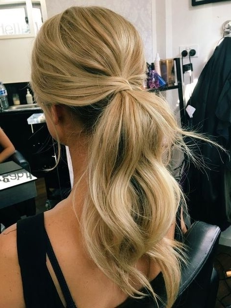 Textured Ponytail Wedding Bridal Hairstyle Inspiration | Hair (View 15 of 25)