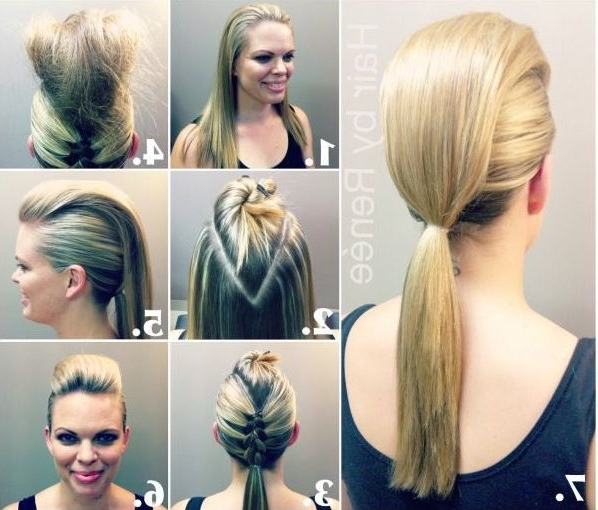 The 10 Best Celebrity Ponytails Of All Time Within Fauxhawk Ponytail Hairstyles (View 11 of 25)