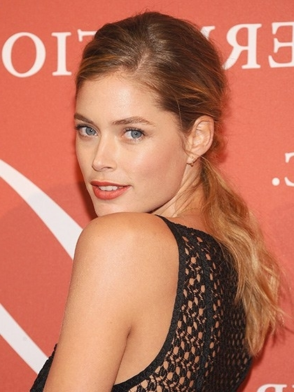 The 17 Prettiest Ponytails Right Now – Allure Pertaining To Low Hanging Ponytail Hairstyles (View 23 of 25)