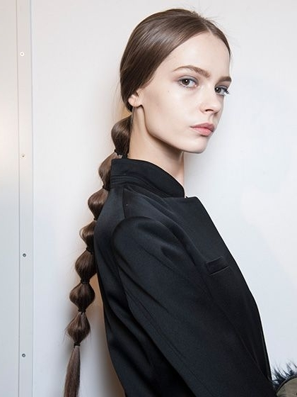 The 17 Prettiest Ponytails Right Now   Pinterest   Ponytail, Hair With Regard To Sleek Bubble Ponytail Hairstyles (View 15 of 25)