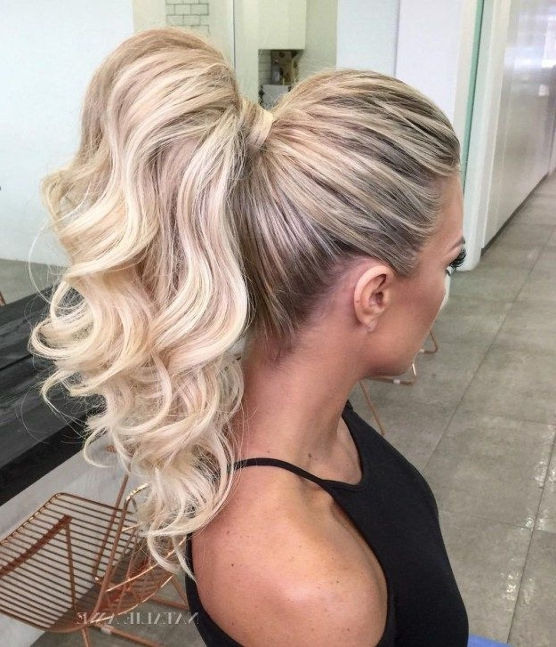 The 20 Most Alluring Ponytail Hairstyles | Fun Fashion Hair Intended For Curly Blonde Ponytail Hairstyles With Weave (View 12 of 25)