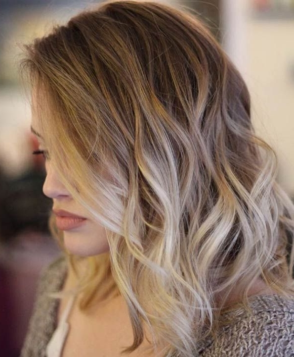 The 40 Latest Medium Length Curly Hairstyles | Hair | Pinterest Intended For Blonde Ombre Waves Hairstyles (View 11 of 25)