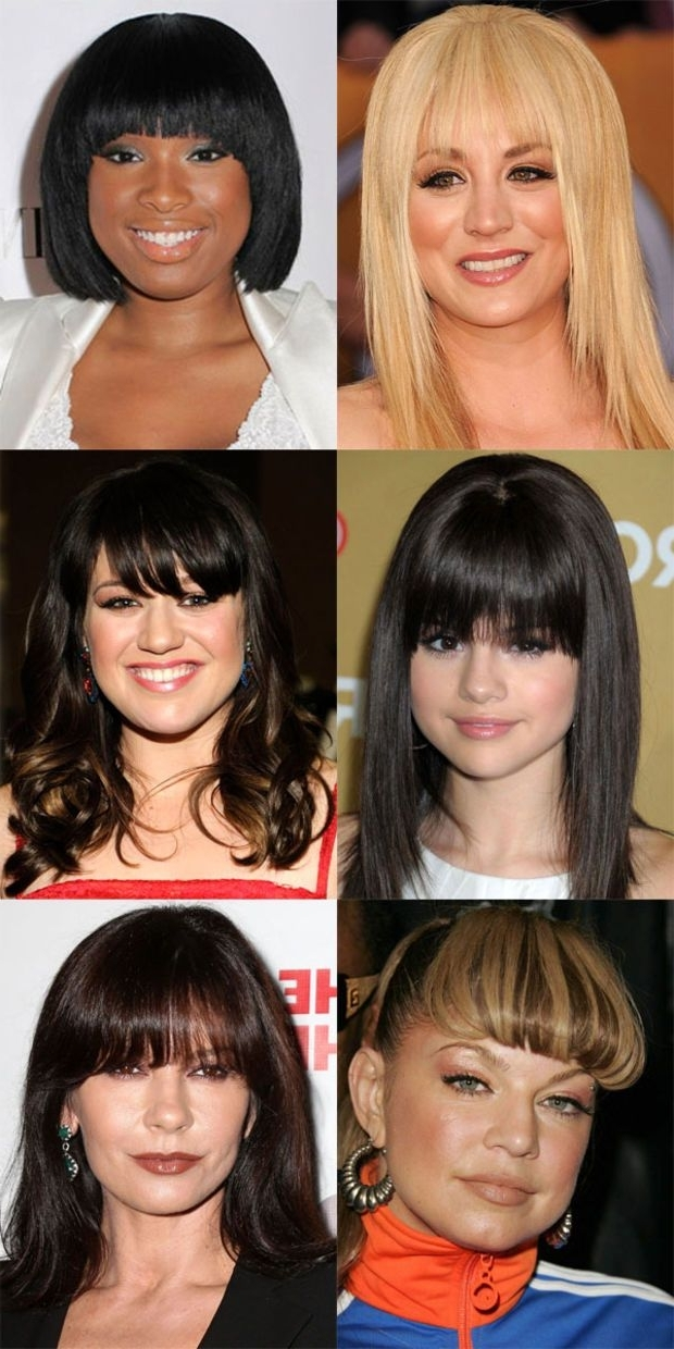 The Best (And Worst) Bangs For Round Face Shapes | Hair | Pinterest With Regard To Minaj Pony Hairstyles With Arched Bangs (View 10 of 25)