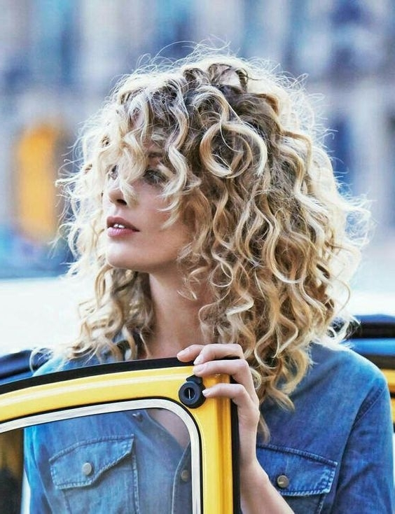 The Best Haircuts For Girls With Extremely Curly Hair | Tips In Medium Blonde Bob With Spiral Curls (View 7 of 25)