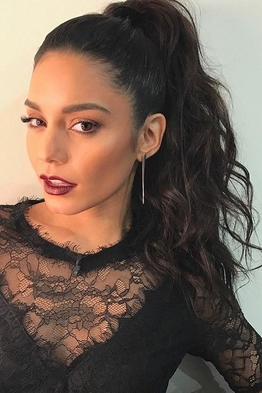 The Best It Girl Ponytails To Try Right Now | Good Hair Day Regarding High Curled Do Ponytail Hairstyles For Dark Hair (View 6 of 25)