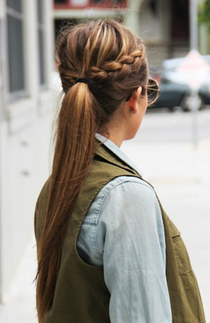 The Best Long Hair Inspiration To Pin Right Now | Hair | Pinterest Inside Perfectly Undone Half Braid Ponytail (View 15 of 25)