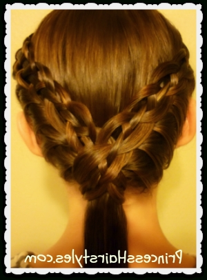The Cutest Hairstyles For Little Girls: Princess Hairstyles And A Inside Princess Ponytail Hairstyles (View 11 of 25)