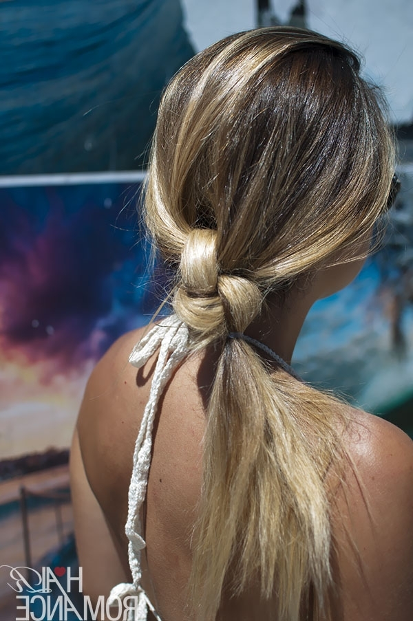 The Double Knot Ponytail Tutorial – Hair Romance With Double Tied Pony Hairstyles (View 3 of 25)