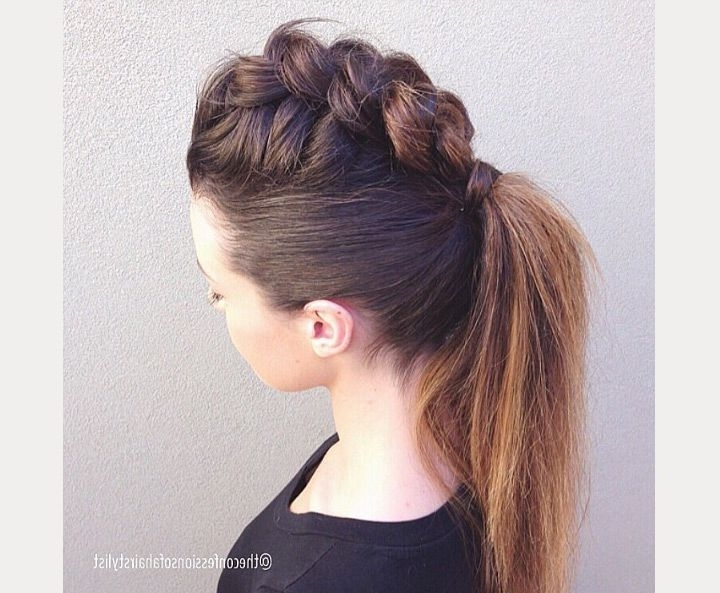 The Faux Hawk | Hair | Pinterest | Braided Faux Hawk, Faux Hawk And For Two Tone High Ponytail Hairstyles With A Fauxhawk (View 23 of 25)