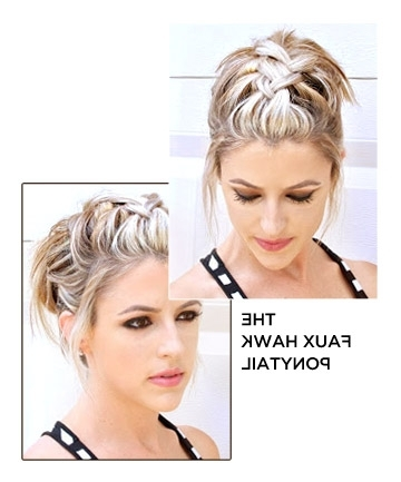 The Faux Hawk Ponytail, 25 Ways To Step Up Your Ponytail Game Throughout Two Tone High Ponytail Hairstyles With A Fauxhawk (View 22 of 25)