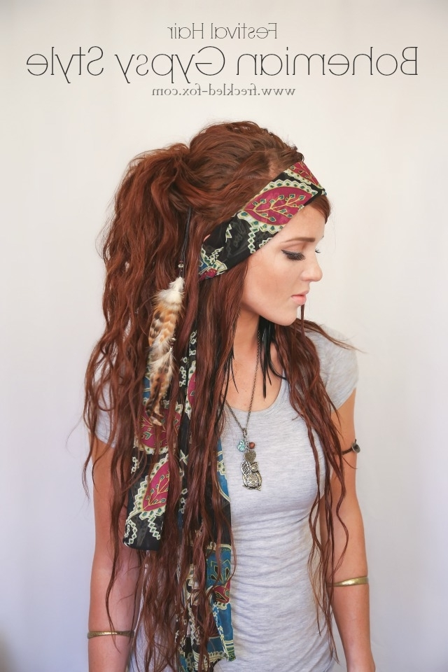 The Freckled Fox: Festival Hair Week: Bohemian Gypsy Style Throughout Braided Boho Locks Pony Hairstyles (View 7 of 25)