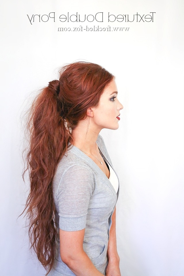 The Freckled Fox: Hair Tutorial: D&g Inspired Textured Double Ponytail Throughout Crimped Pony Look Ponytail Hairstyles (View 21 of 25)