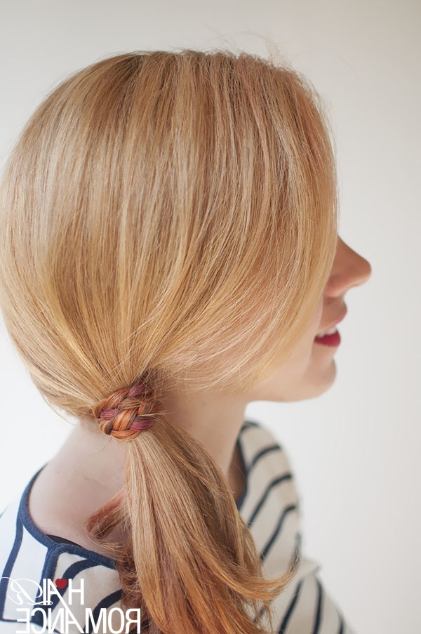 The Freckled Fox: Hair Tutorial: The Braid Wrapped Ponytail With Regard To Wrapped Up Ponytail Hairstyles (View 17 of 25)