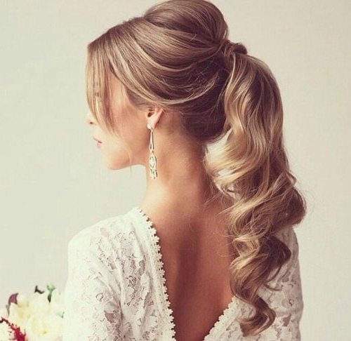 The Great Wedding Hairstyle Debate – Up Or Down? – Intended For Glam Ponytail Hairstyles (View 25 of 25)