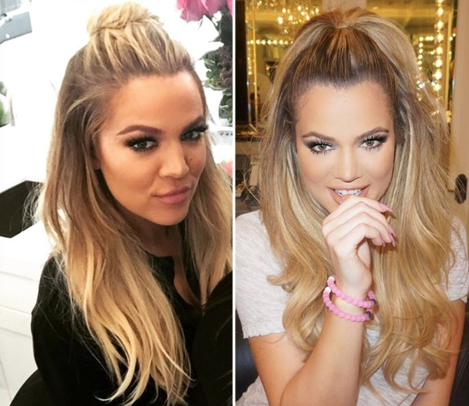 The Half Up Ponytail Is The New Hun Hairstyle: Get The Look Within Half Up Curly Do Ponytail Hairstyles (View 3 of 25)