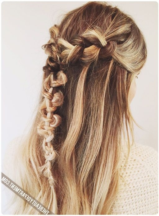 Featured Photo of Brunette Macrame Braid Hairstyles