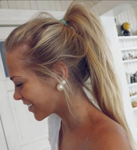 The Poker Straight High Ponytail | 10 Best Ponytail Hairstyles In Poker Straight Cool Blonde Style (View 22 of 25)