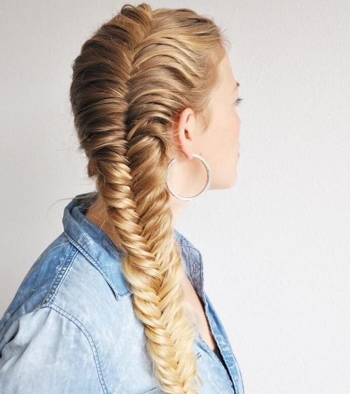 The Prettiest French Plait Hairstyles To Try (With Inspo Gallery) With Perfectly Undone Half Braid Ponytail (View 21 of 25)