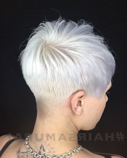 The Short Pixie Cut – 39 Great Haircuts You'll See For 2018 In Sassy Silver Pixie Blonde Hairstyles (View 18 of 25)