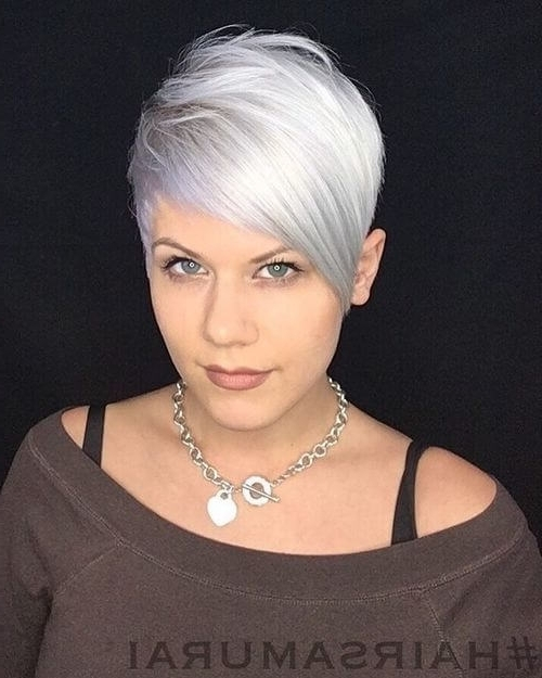 The Short Pixie Cut – 39 Great Haircuts You'll See For 2018 Intended For 2018 Side Parted Silver Pixie Bob Hairstyles (View 8 of 25)