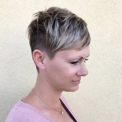 The Short Pixie Cut – 39 Great Haircuts You'll See For 2018 Pertaining To Latest Ash Blonde Pixie Hairstyles With Nape Undercut (View 22 of 25)