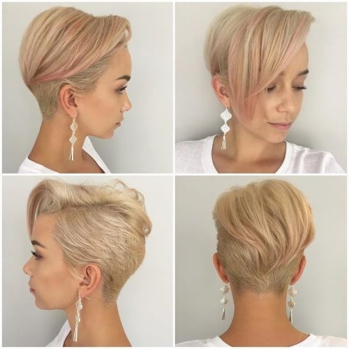 The Short Pixie Cut – 39 Great Haircuts You'll See For 2018 | Pixies Regarding Current Disconnected Blonde Balayage Pixie Hairstyles (View 3 of 25)