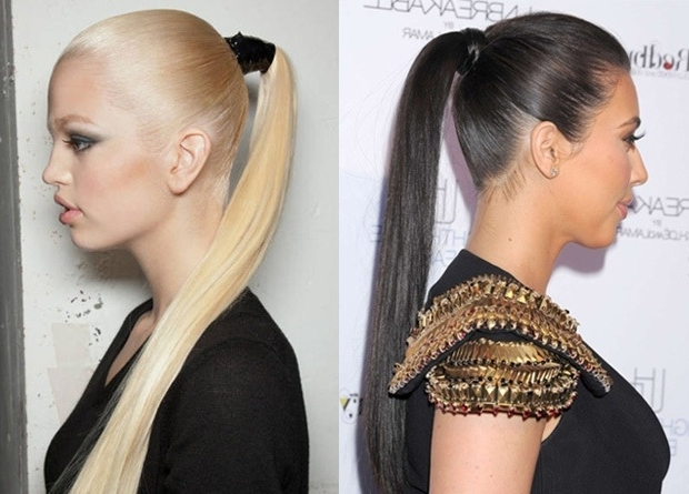 The Trendy Sleek Ponytail Inside Tight And Sleek Ponytail Hairstyles (View 24 of 25)