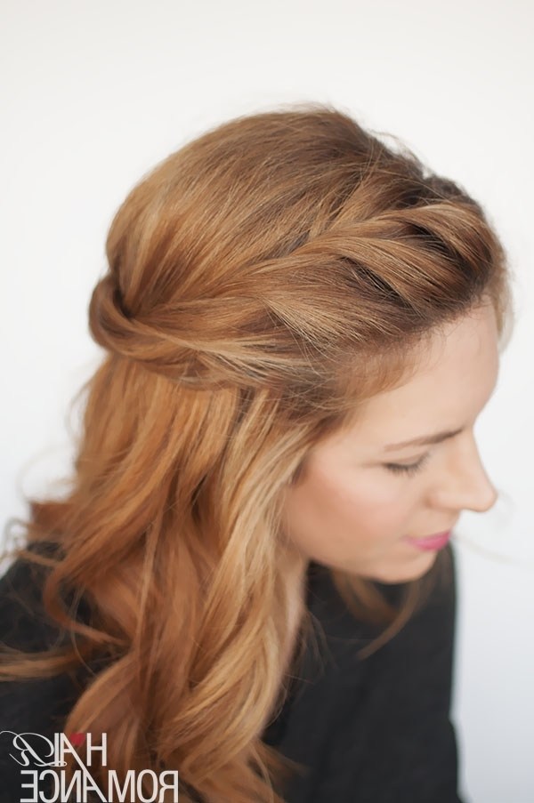 The Twist Back – Easy Half Up Hairstyle Tutorial – Hair Romance Intended For Romantic Twisted Hairdo Hairstyles (View 3 of 25)