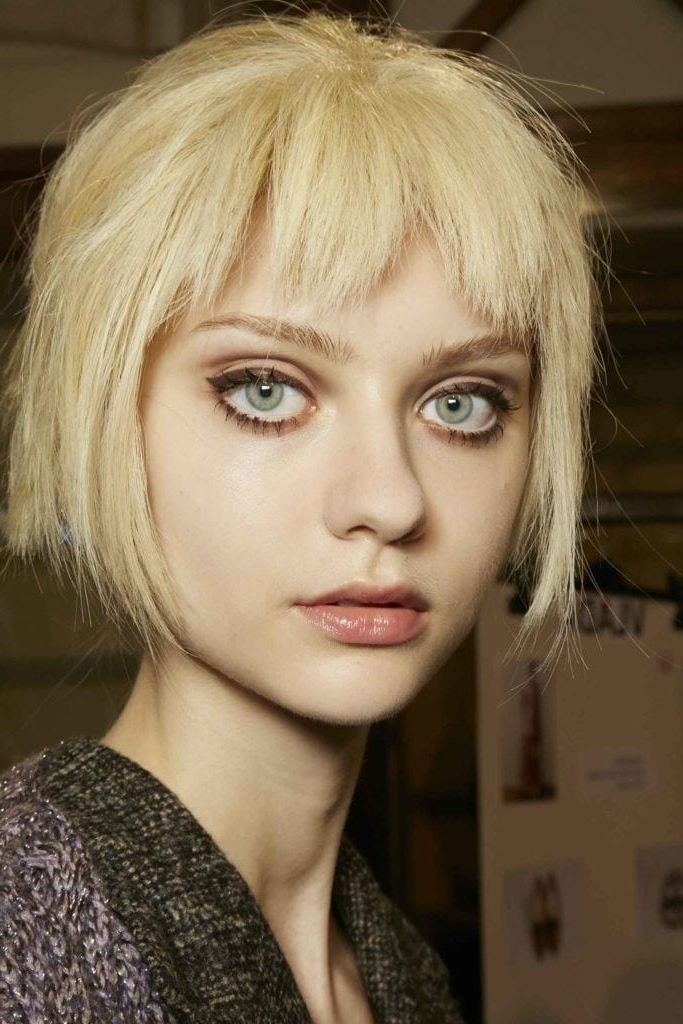 The Ultimate Guide To Rocking A Short Fringe: Find Your Perfect Match With Cute Blonde Bob With Short Bangs (View 8 of 25)