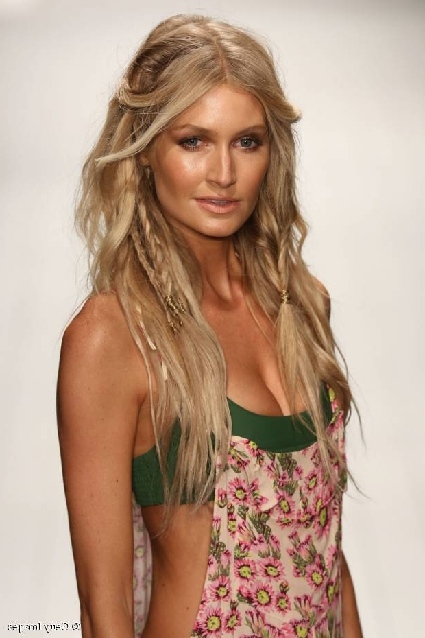 The Ultimate Summer Hairstyle: Beach Waves + Baby Braids For Beachy Braids Hairstyles (View 25 of 25)
