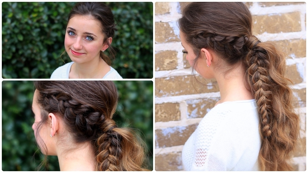 The Viking Braid Ponytail | Hairstyles For Sports | Cute Girls Inside Pony Hairstyles With Accent Braids (View 24 of 25)