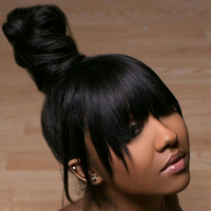 These 3 Cute Flat Twist Hairstyles Take Winning Prize – For Being In Low Black Ponytail Hairstyles With Bangs (View 20 of 25)