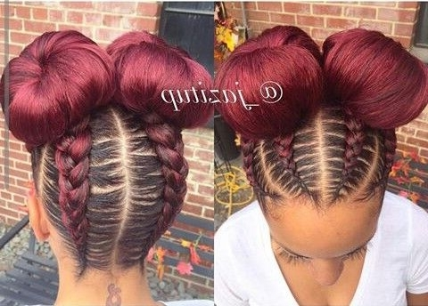 These 3 Cute Flat Twist Hairstyles Take Winning Prize – For Being With Classy 2 In 1 Ponytail Braid Hairstyles (View 8 of 25)