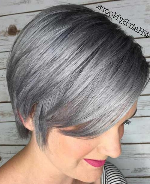 These Days Most Popular Short Grey Hair Ideas | Short Hairstyles Within Recent Gray Blonde Pixie Hairstyles (View 3 of 25)