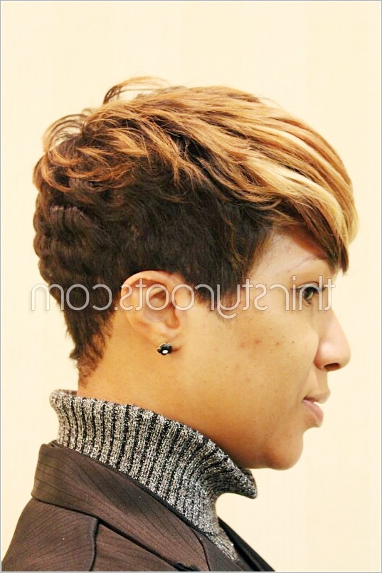 Thetruemetalmaniac: Quick Black Hair With Highlights Images Within Most Recently Long Honey Blonde And Black Pixie Hairstyles (View 9 of 25)