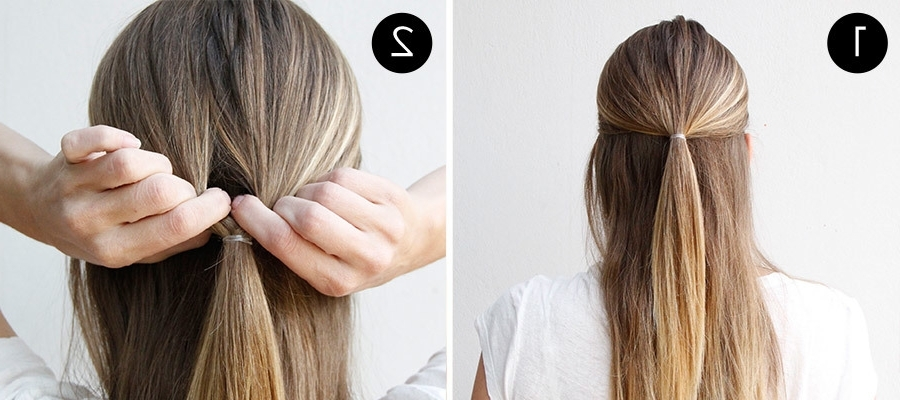 This Double Twist Ponytail Is The Perfect Five Minute Hairstyle Within Low Twisted Flip In Ponytail Hairstyles (View 17 of 25)
