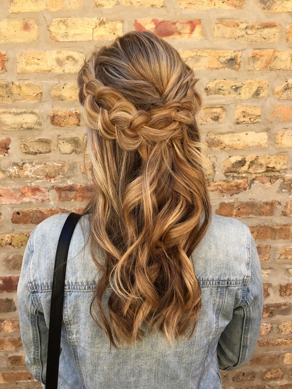This Soft Romantic Hairstyle Featuring A Loose Dutch Braided Crown + For Loose 3D Dutch Braid Hairstyles (View 13 of 25)