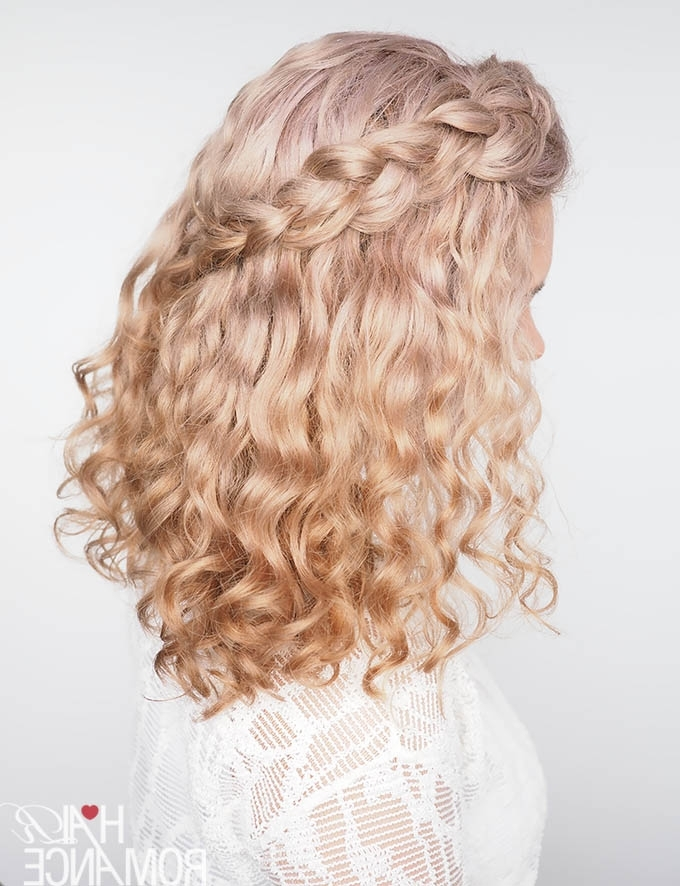 Tips For Braiding Curly Hair (Plus A Quick Tutorial!) – Hair Romance Within Braids With Curls Hairstyles (View 12 of 25)